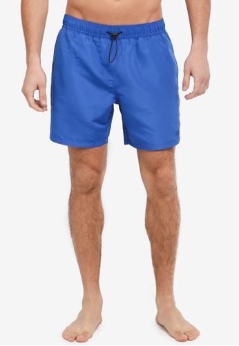 Topman blue Two Pocket Boardshorts 55FD6USF3071C2GS_1