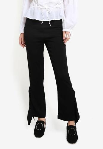 Mango black Lace Flare Trousers MA193AA0RGTKMY_1