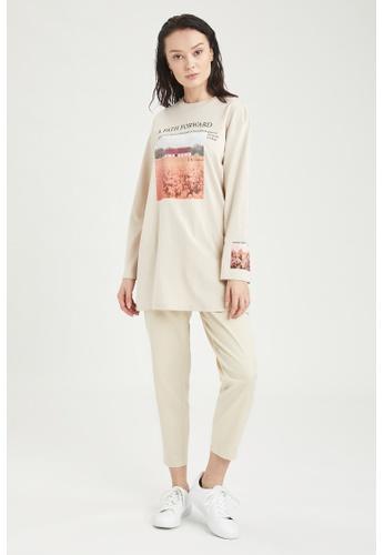 DeFacto grey Long Sleeve Round Neck Cotton Tunic E0A98AAD267242GS_1