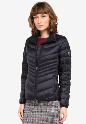 Abercrombie & Fitch black Packable Down Puffer Jacket AB423AA0T10YMY_1