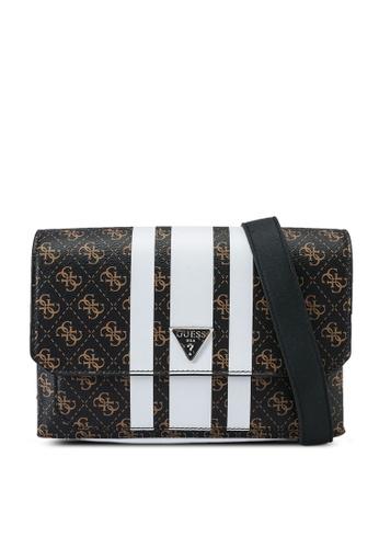 Guess brown and pink Ambrose Flap Shoulder Bag 1C371ACF8212B4GS_1