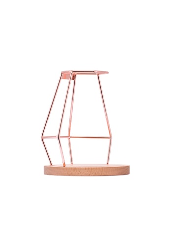 A-IDIO A-IDIO Diamond Wireframe Pour Over Coffee Stand (Rose Gold) 7CE38HL99F1CD6GS_1