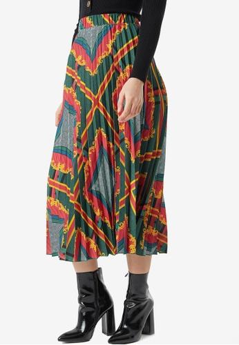 NA-KD 多色 巴洛克印花褶飾裙 2DCD2AA050ADD2GS_1