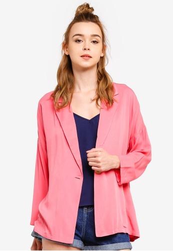 Something Borrowed 粉紅色 西裝外套 48906AAA7B7491GS_1