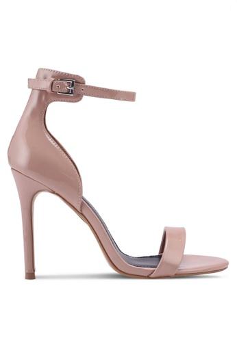 TOPSHOP beige Marcelle Patent Skinny Sandals 00F80SH35B5AF5GS_1