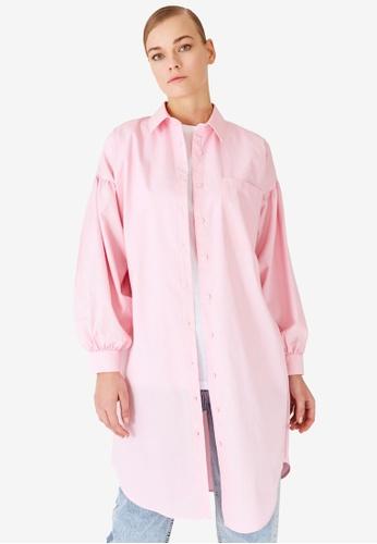 Trendyol 粉紅色 Tunic Shirt 055CDAAD735C6FGS_1