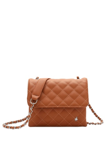 Swiss Polo brown Quilted Crossbody Bag BE4A7ACD52AA05GS_1