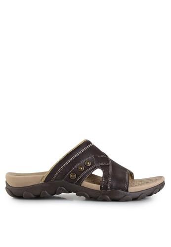 Homyped brown Sienta 01 Men Sandals HO842SH41GZAID_1