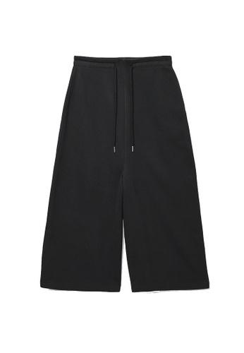 COS black Organic Cotton Wide-Leg Jogger A907EAA77D9B18GS_1