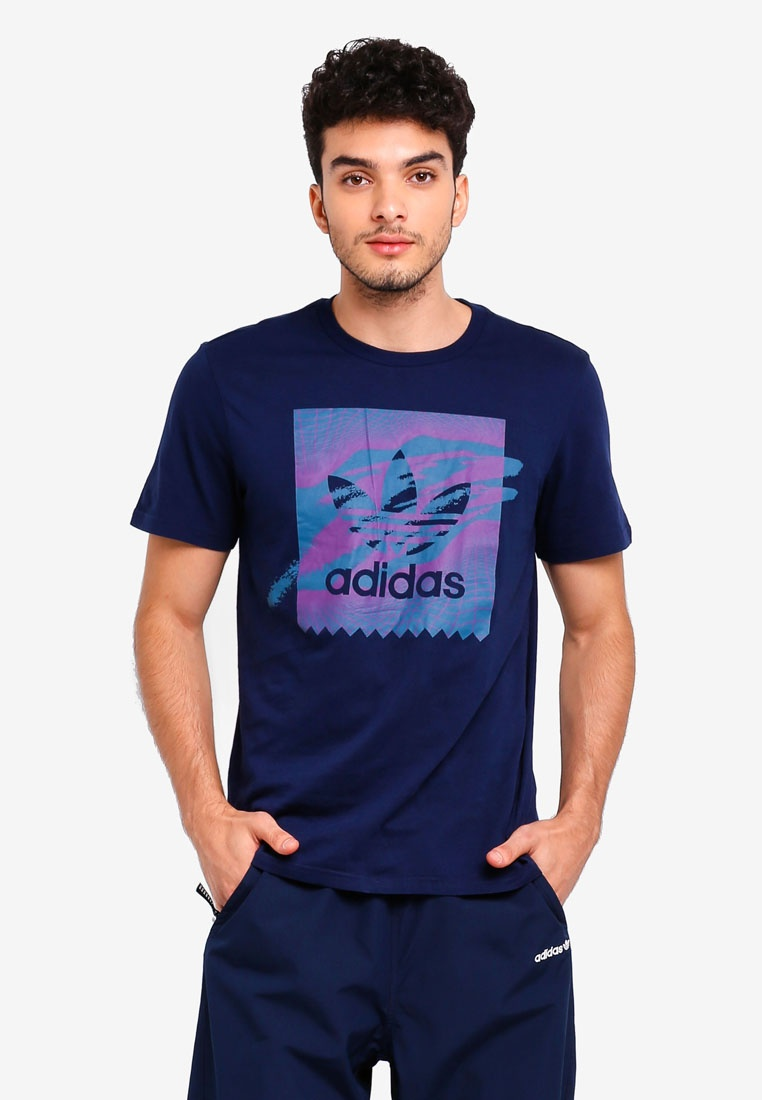 adidas Collegiate originals Teal S18 tennis adidas Tribe Navy bb Purple tee Real rqrOXxUw