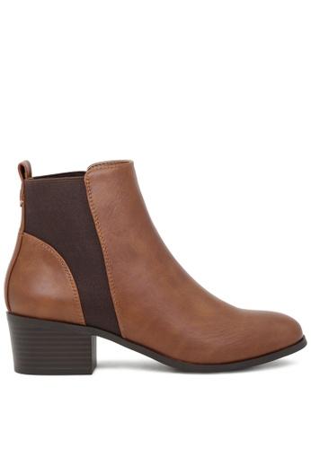 London Rag brown Tan Chelsea Boots SH1721 EF892SH3B3716CGS_1