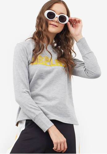 Berrybenka grey Fridy Printed Pullover 1A4F9AAD8C79AAGS_1