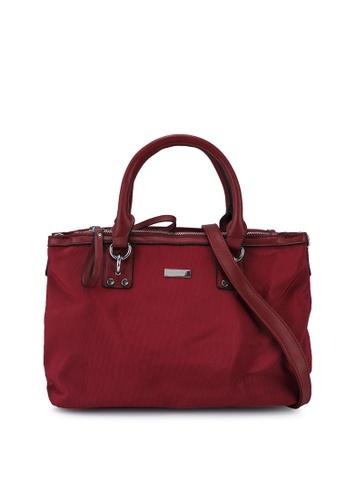 NUVEAU red Premium Oxford Nylon Convertible Satchel Bag ECE38AC2DA166EGS_1