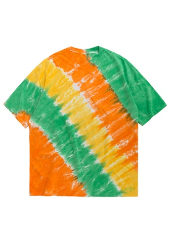 Twenty Eight Shoes Candy Stripes Tie-Dyed Oversize T-shirt 1131S20 67AABAA116377EGS_1
