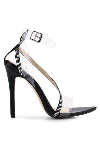 Public Desire 黑色 Saucy 繞帶Perspex Point Toe 高跟鞋 88545SHCEE130AGS_1