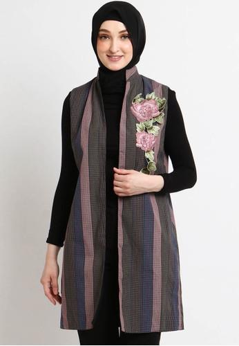 INTRESSE multi Pimento 3 Double Side Hijab Outer 37257AA4FA7A2BGS_1