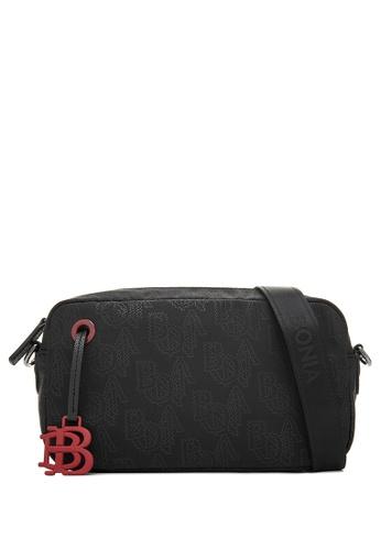 BONIA black Black Mantra Minimalist Sling Bag 80015AC9DFC811GS_1