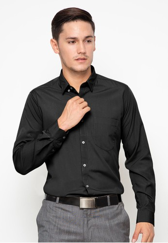 RICCIMAN black Ricciman Slim Fit Shirt Long Sleeve Black L-PMF9531-HT A87F4AADE20564GS_1