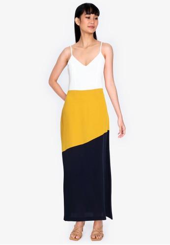 ZALORA BASICS multi Colourblock Cami Dress FA87CAAB11D11EGS_1