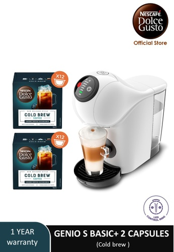 NESCAFE Dolce Gusto white GENIO S BASIC Automatic Coffee Machine with 2 boxes of NESCAFE Dolce Gusto capsules EA059ES4DBCE24GS_1