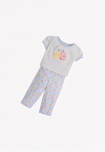 Gingersnaps multi Baby Girls Pear Print Pajama Set A7166KAE627579GS_1
