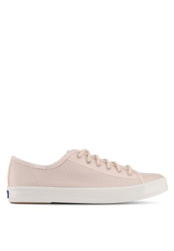 Keds pink Kickstart Diamond Mesh Sneakers KE942SH0STG0MY_1