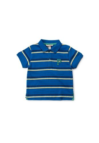 PONEY blue Poney Boy Seafarer Classic Short Sleeve Polo Shirt - Dark Blue 70613KAFE478A2GS_1