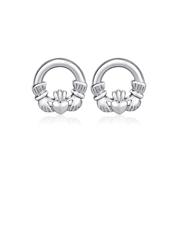 Glamorousky silver 925 Sterling Silver  Mother's Day Heart Stud Earrings FF84EAC81B5CCCGS_1