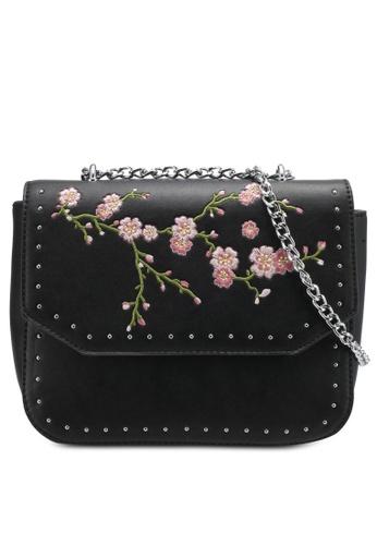 Something Borrowed black Cherry Blossom Studded Chain Sling 5B1DBAC242A4F3GS_1