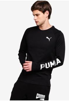 29fd098473 Puma black Sportstyle Core Modern Sports Long Sleeve Tee 20560AAEC049C0GS_1