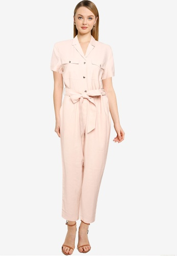 Forever New pink Zoe Utility Belted Jumpsuit D9351AAAC5EFABGS_1