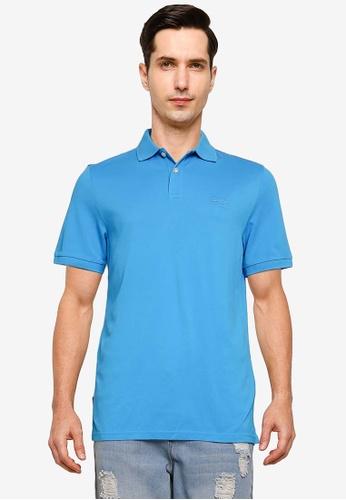 SUPERDRY blue Classic Micro Lite Short Sleeve Pique Polo Shirt 210DAAAC064634GS_1