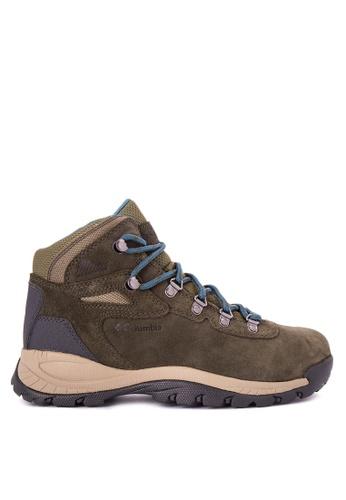 Columbia brown Newton Ridge Plus Waterproof Amped Women's Shoes 0807ASH246F497GS_1