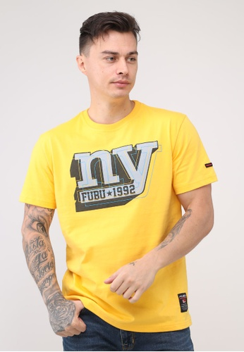 Fubu Boys yellow Round Neck Regular Fit T-Shirt B69B6AABEB238EGS_1
