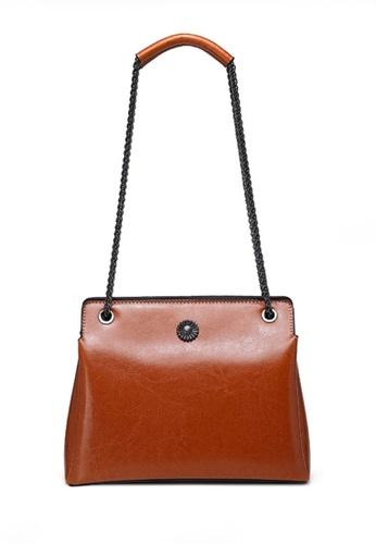 Twenty Eight Shoes brown VANSA Fashion Chain Portable Crossbody Bag VBW-Cb6601 8473AAC9ADD7D9GS_1