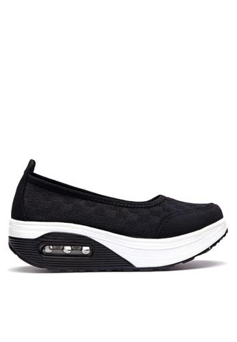 Twenty Eight Shoes black Mesh Rocking Pumps VC2963 3B19FSH646ACC1GS_1