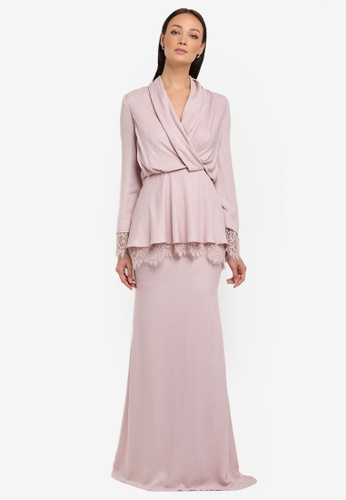 Genma Kurung Modern from NH by NURITA HARITH in Pink