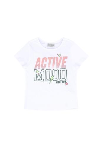 LC Waikiki white Girl's Printed Cotton T-shirt BE847KAAC3544AGS_1