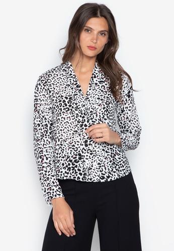 Dorothy Perkins white Ivory Leopard Print Pyjama Style Shirt  BD401AA347C44CGS 1 a1d651042