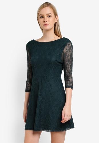 Something Borrowed green Low Back Lace Mini Dress 9D38AAA3D8F4CCGS_1