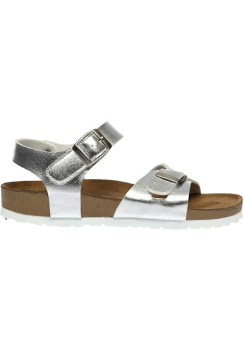 paperplanes silver SNRD-218 Casual Summer 2-Belts Ankle Strap Sandals Shoes US Women Size PA355SH75QOMSG_1