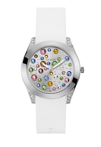 Guess Watches white and silver Ladies Trend Watch W1059L1 1EB60AC7AF4D3AGS_1