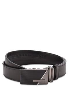 【ZALORA】 Swiss Polo 折疊扣雙錶圈腰帶