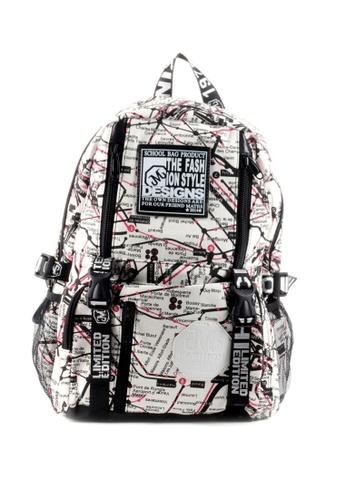 House of Bai multi Korean Style Unisex Backpack A HO716AC0K2TMPH_1