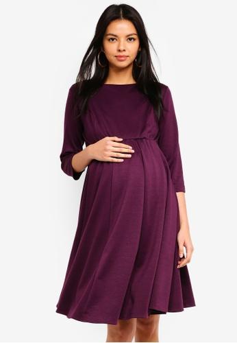 Tiffany Rose purple Maternity Sienna Dress A5003AA0943611GS_1