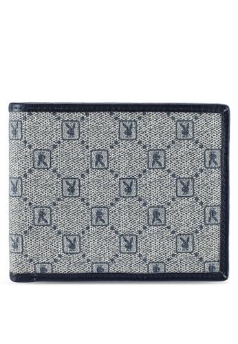Playboy blue Rfid Blocking Bi-Fold Wallet E53A4AC21A948EGS_1