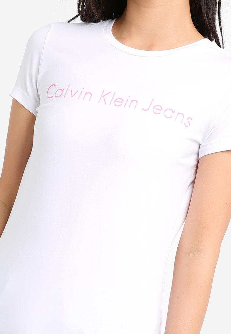 Bright Klein Neck Calvin White Jeans Crew Klein Tee Sleeve Calvin Short nxfz0q1Ew