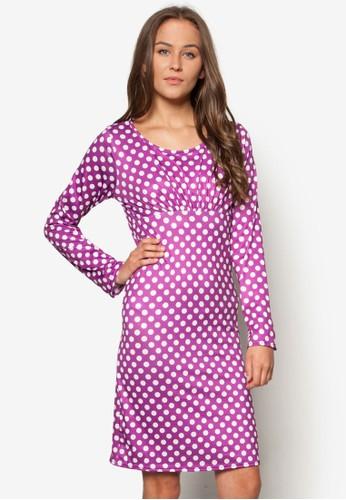 點點長esprit tw袖連身裙, 服飾, 印花時代