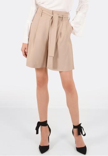 FORCAST brown Hazel Tie Up Shorts FO347AA0GFZ8SG_1