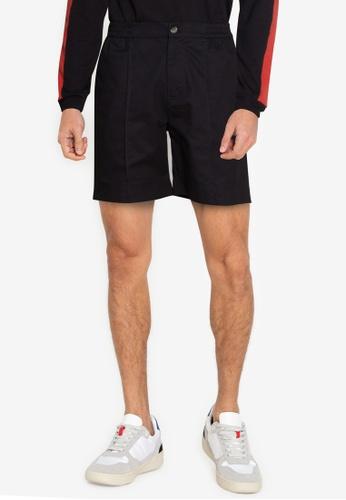 ZALORA BASICS black Middle Seam Shorts 0FAADAA9B911FCGS_1